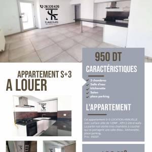 Nabeul-immobilier-A-Louer-Appartements-Non-Meublé-3-Pièces
