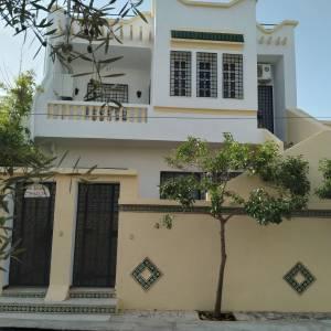 Nabeul-immobilier-villa-à-Hammamet(S+2)-R.D.C.-ou-étage