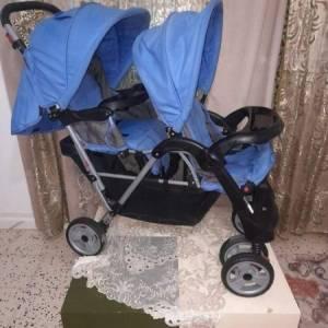 Zaghouan-bebe_et_enfant-poussette-jumeaux